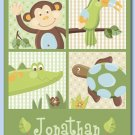 "11""x14"" PERSONALIZED PAPAGAYO JUNGLE PRINT FOR KIDS"