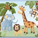 "11""x14"" ART PRINT FOR KIDS / JUNGLE SAFARI ANIMALS"