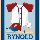 "11""x14"" SPORT BASEBALL UNIFORM PERSONALIZED ART PRINT"