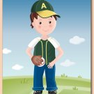 "11""x14"" BOYS PERSONALIZED ART PRINT / SPORT BASEBALL"