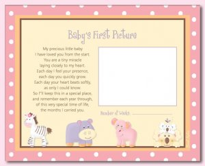 """TROPICAL PUNCH 8""""x10"""" BABY ULTRASOUND POEM PRINT"""