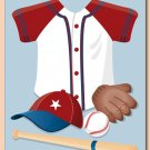 "11""x14"" BOYS WALL ART PRINT / SPORT BASEBALL UNIFORM"