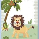 "11""x14"" ART PRINT FOR KIDS JUNGLE ANIMALS /  LION"
