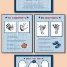 SET OF 4 BASEBALL SCRAPBOOK BABY ULTRASOUND PRINTS