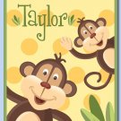 "11""x14"" JUNGLE MONKEY PERSONALIZED ART PRINT FOR KIDS"