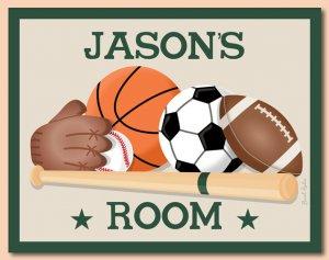 PERSONALIZED PRINT SPORTS BASEBALL FOOTBALL BASKETBALL