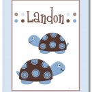 "11""x14"" Personalized Wall Art Print Mod Turtle Turtles"