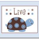 Set of 3 Nursery Wall Art Prints Mod Turtle Turtles