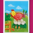 FRAMED PRINT FOR NURSERY KIDS ROOM  / CHICKEN FARM