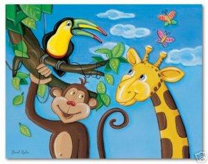 """11""""x14"""" ART PRINT NURSERY KID'S ROOMS /  JUNGLE ANIMALS"""