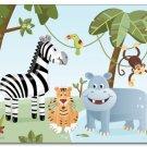 "11""x14"" ART PRINT FOR KIDS / SAFARI JUNGLE ANIMALS"