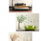 Autumn Tree with Leaves Blowing in Wind Vinyl WallDecal