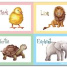 "11""x14"" ART PRINT FOR NURSERY KID'S ROOMS / ANIMALS"