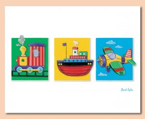 """11""""x14"""" ART PRINT FOR CHILDREN ROOM /  TRANSPORTATION"""