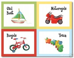 """11""""x14"""" ART PRINT FOR  KID'S ROOMS / VEHICLE TOYS"""