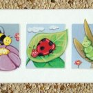 PRINT ON CANVAS  NURSERY CHILDREN ROOM / BUGS & LEAVES