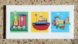 PRINT ON CANVAS FOR KIDS NURSERY / TRANSPORTATION