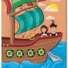 "11""x14"" ART PRINT NURSERY KID'S ROOMS /  PIRATE SHIP"