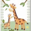 "11""x14"" ART PRINT FOR KIDS JUNGLE ANIMALS /  GIRAFFES"