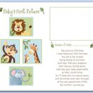 "JUNGLE ANIMALS  8""x10"" BABY ULTRASOUND POEM PRINT"