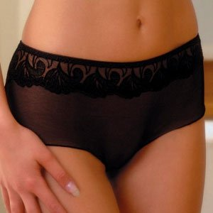 Boy Short Thong Panties, Sheer Lingerie, Black