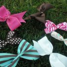 """PINK BROWN TURQUOISE COM""""BOW"""""""