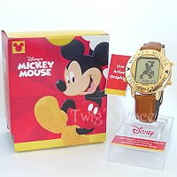 Disney Mickey Mouse Jewelry Watch Musical Alarm Animated Dancing RAT002G