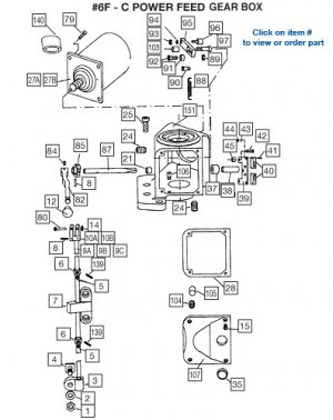 POWER FEED 6F-C GEARBOX