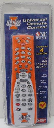 University of Illinois U of I Fighting Illini orange 4-device universal remote control one-for-all
