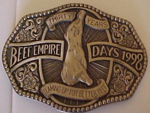 Beef Empire Days 30 Years Belt Buckle