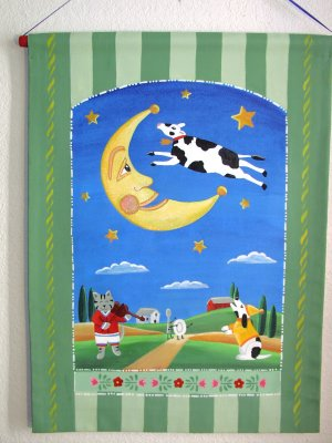 Cow Jumped Over the Moon Wall Hanging