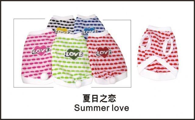 Wholesale Dog Apparel - Summer Love  (Total : 180 pcs)