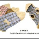 Wholesale Dog Apparel - Double-face Jacket in Checker Print  (Total : 108 pcs)