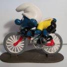 SMURF VINTAGE SUPERSMURF CYCLIST Figure
