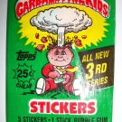 GARBAGE PAIL KIDS 3rd SERIES Trading Card Pack