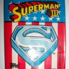 SUPERMAN III 1983 Trading Card Pack