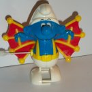 SMURFS 1982 GLIDER SMURF WIND-UP WALKER figure