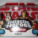 STAR WARS GALACTIC HEROES PADME/ JARJAR Figures