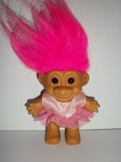 russ berrie  u0026quot pink ballerina  u0026quot  troll doll