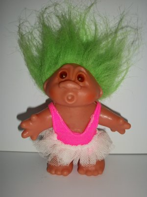 Dam Norfin 1986 Green Hair Ballerina Troll Doll