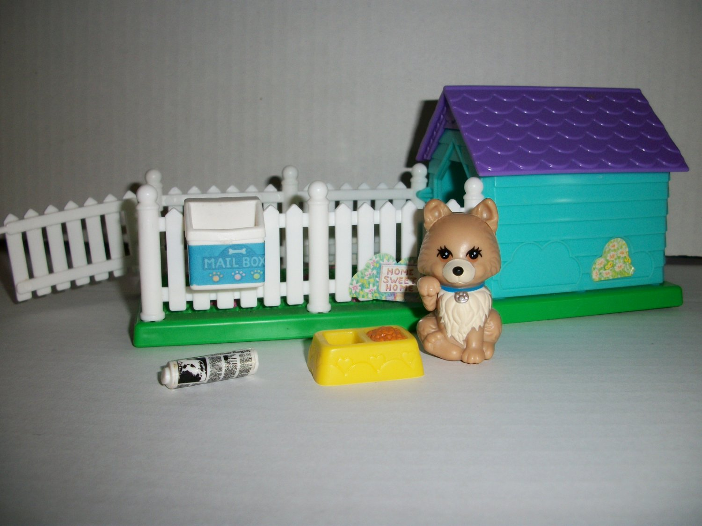 VINTAGE LITTLEST PET SHOP 1992 PUPPY PALS & PLAYHOUSE Set