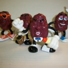 CALIFORNIA RAISINS VINTAGE Set of Original 4