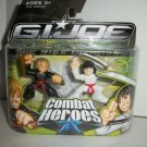 GI JOE COMBAT HEROES YOUNG SNAKE EYES & STORM SHADOW Figures
