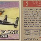 "TOPPS 1952 ""WINGS""  #3 PACK PLANE Trading Card"