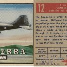 """TOPPS 1952 """"WINGS""""  #12 B-57 CANBERRA Trading Card"""