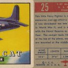 "TOPPS 1952 ""WINGS""  #25  F8F BEARCAT Trading Card"