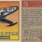 "TOPPS 1952 ""WINGS""  #26 F-80 SHOOTING STAR Trading Card"