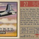 """TOPPS 1952 """"WINGS""""  #27 SEA ATTACKER Trading Card"""