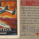 "TOPPS 1952 ""WINGS""  #31 C-121 CONSTELLATION Trading Card"