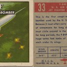 """TOPPS 1952 """"WINGS""""  #33  F-8 4F Trading Card"""